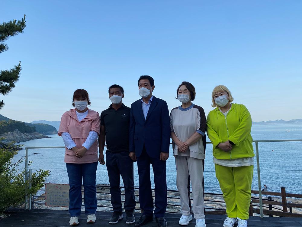 KBS 랜선장터 미역 홍보 촬영 사진
